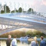 Vincent Callebaut proposes a green, food-producing footbridge for Paris