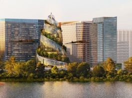 Amazon unveils spiraling, tree-covered skyscraper for Arlington HQ2