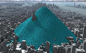 """Blue bubbles helped """"make the cause of climate change visible"""" say visualisers behind viral video"""