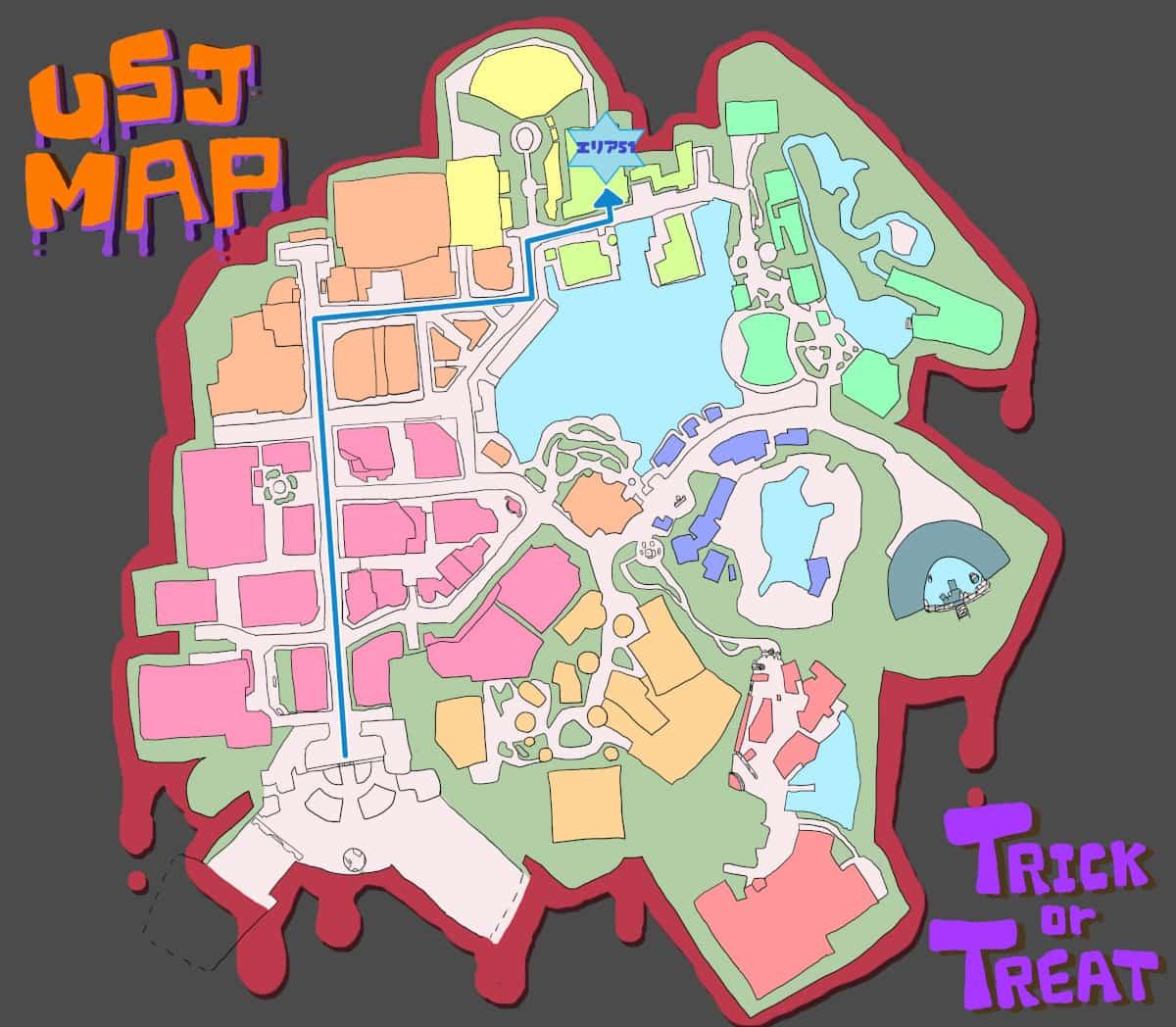 エリア51地図