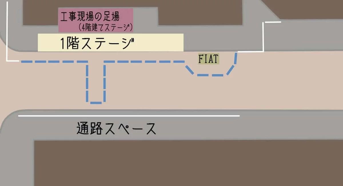ステージの見取り図
