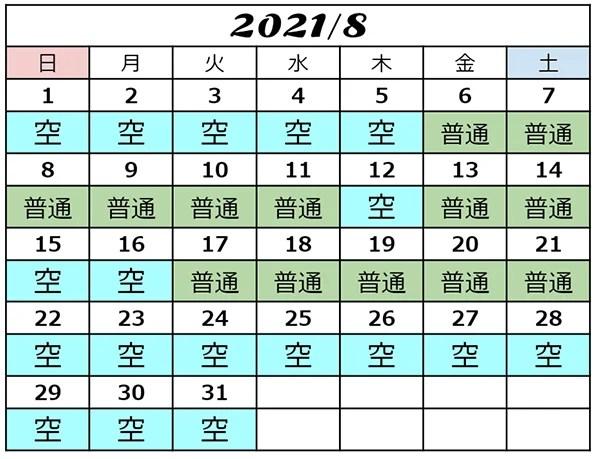 USJ混雑予想2021年8月