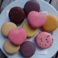 Bright Square - Heart Shaped Macarons