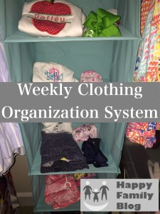 Weekly Clothing Organization System