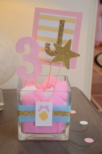 Let's Celebrate: Princess Party by Happy Family Blog - Centerpieces