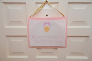 Let's Celebrate: Princess Party by Happy Family Blog - Welcome Sign