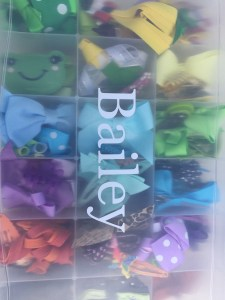 Hair Bow Organization by Happy Family Blog