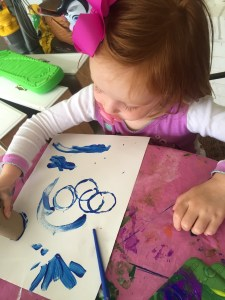 Toddler Crafts: Painting with Toilet Paper Rolls by Happy Family Blog