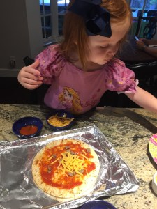 Cooking with a Toddler: Personal Pizza by Happy Family Blog