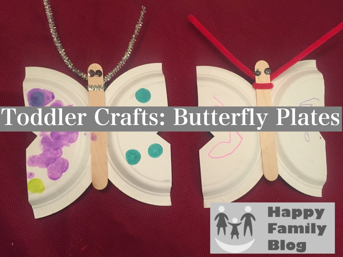 Toddler Crafts: Butterfly Plates