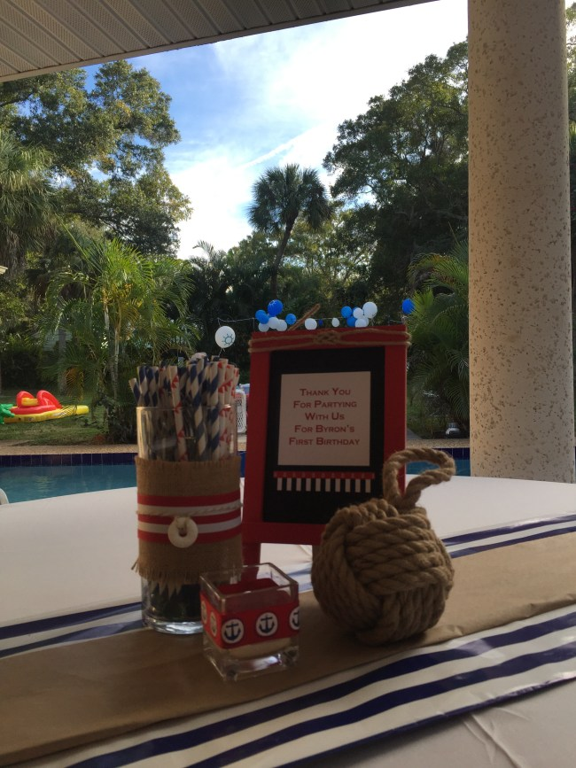 Nautical 1st Birthday by Happy Family Blog: Centerpieces