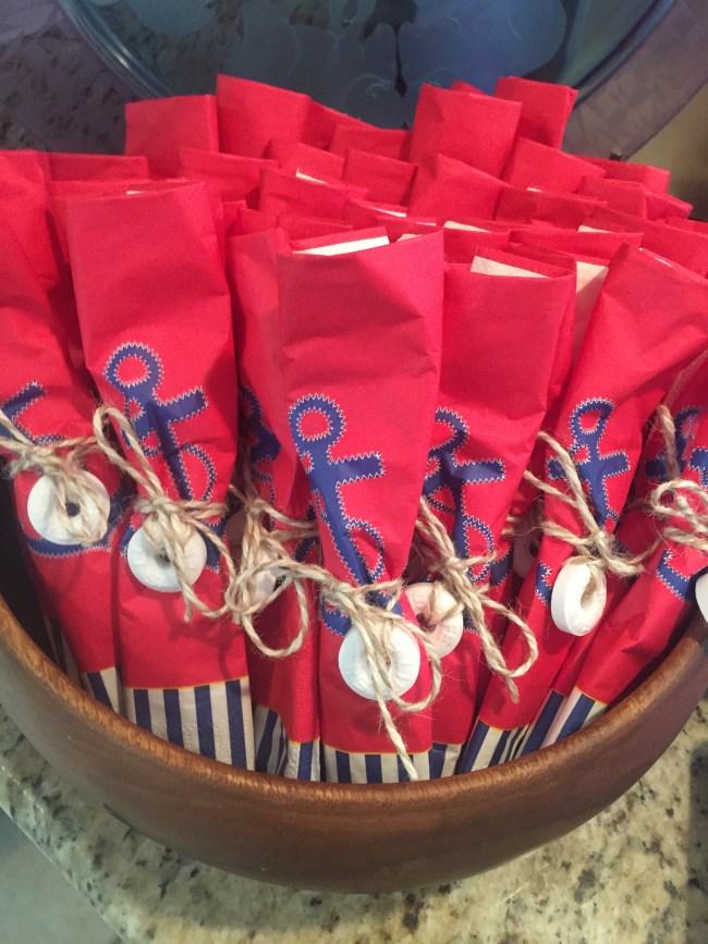 Nautical 1st Birthday by Happy Family Blog: Lifesavers napkins