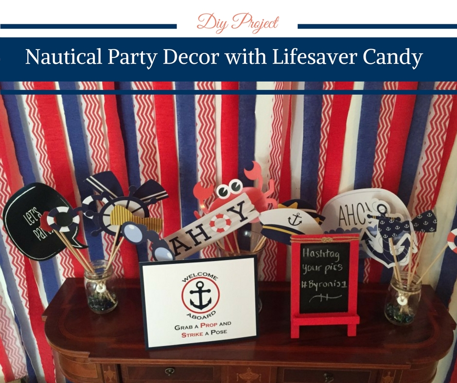 DIY Tutorial: Nautical Party Decor with Lifesaver Candy