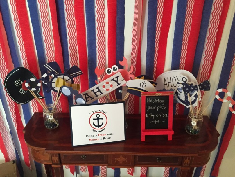 Nautical 1st Birthday by Happy Family Blog: Photo Booth