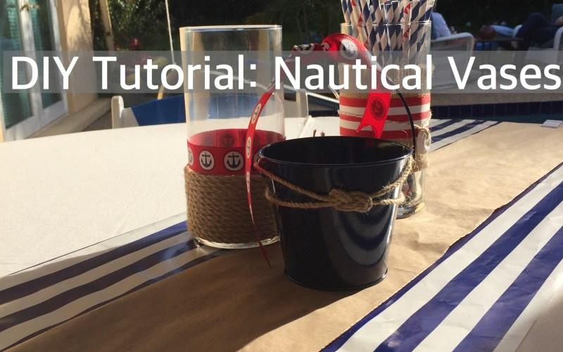 DIY Tutorial: Nautical Vase