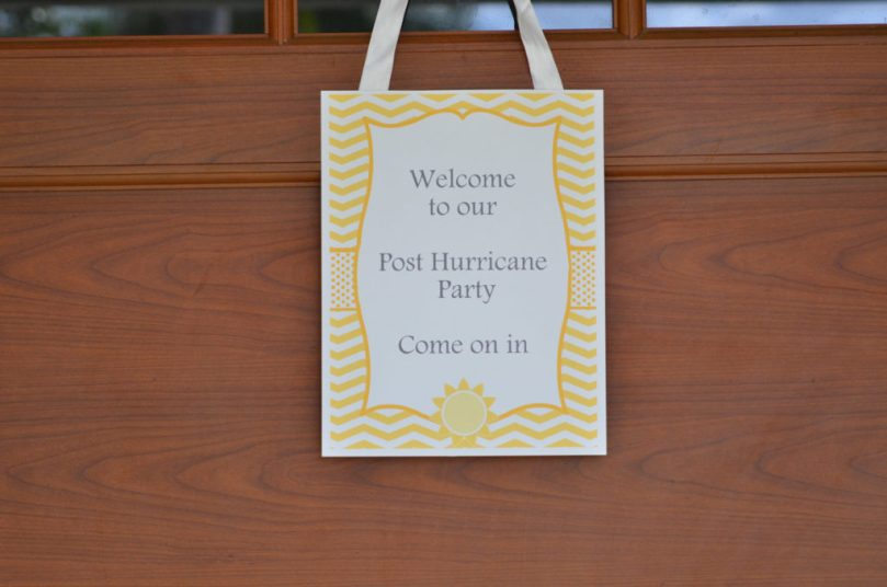 Sunshine Post Hurricane Party by Happy Family Blog