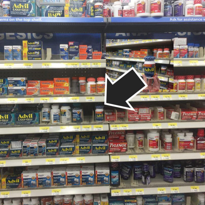 Advil in store picture