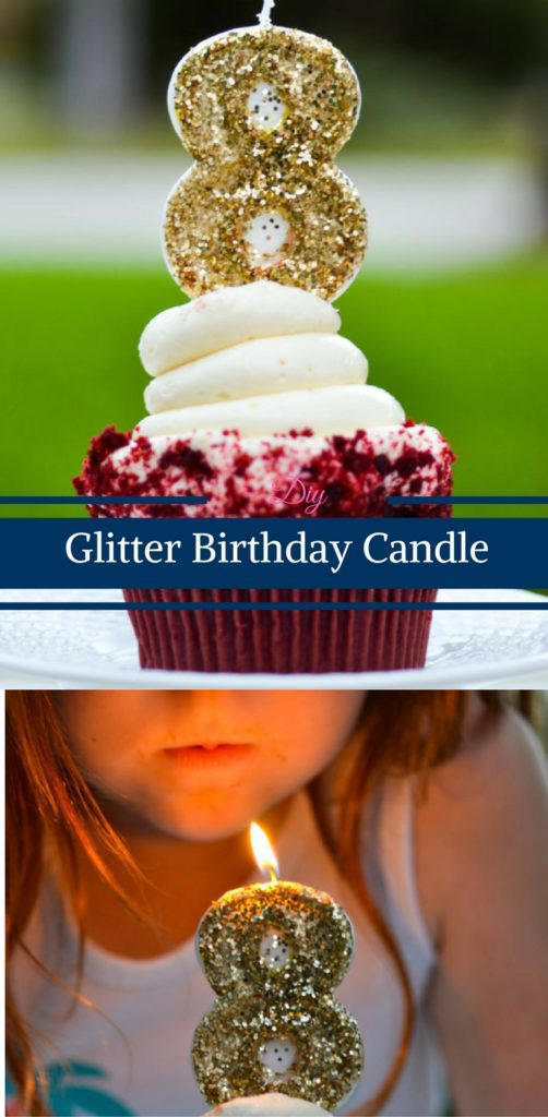 DIY Glitter Birthday Candle by Happy Family Blog