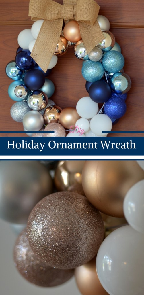 DIY Holiday Ornament Wreath by Happy Family Blog