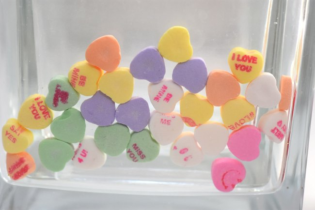 DIY Candy Heart Vase by Happy Family Blog