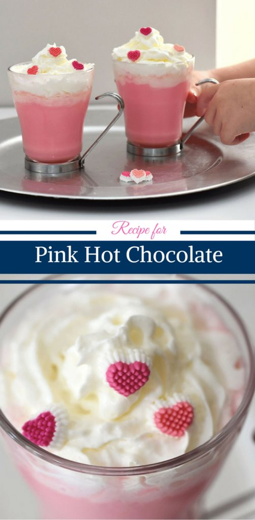 Pink Hot Chocolate Recipe by Happy Family Blog