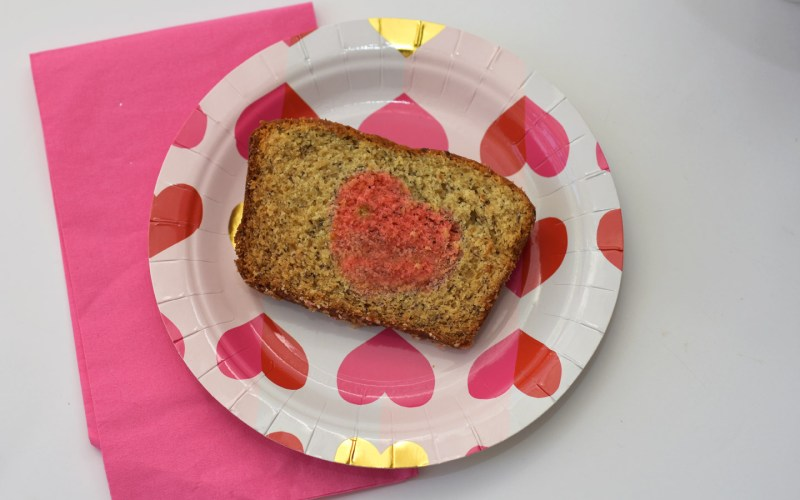 Heart Banana Bread by Happy Family Blog