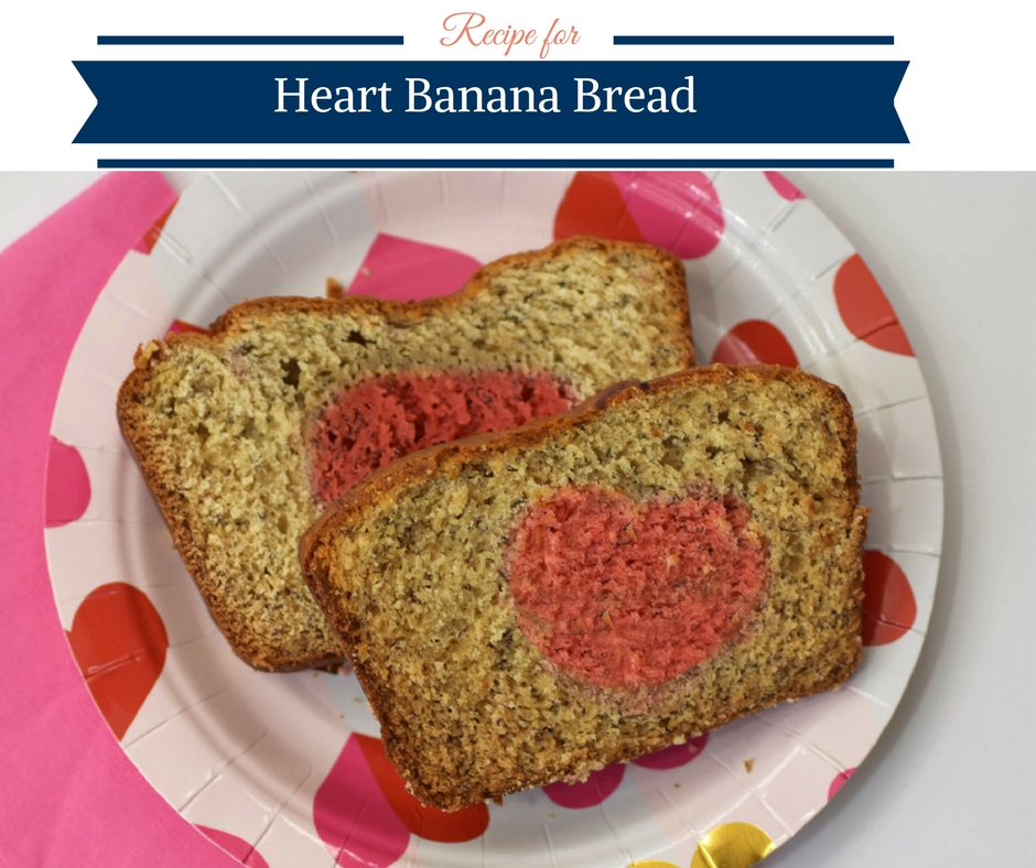 Recipe for Heart Banana Bread