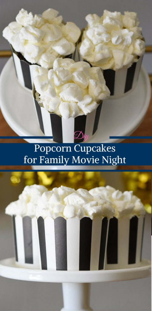 Popcorn Cupcakes for Family Movie Night by Happy Family Blog