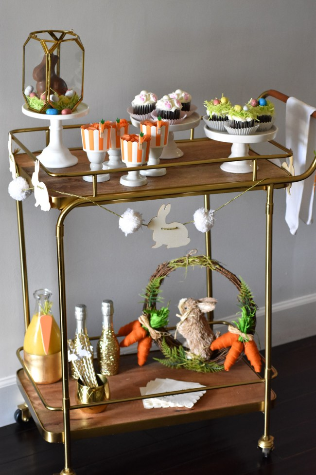 Chocolate Bunny Centerpiece by Happy Family Blog