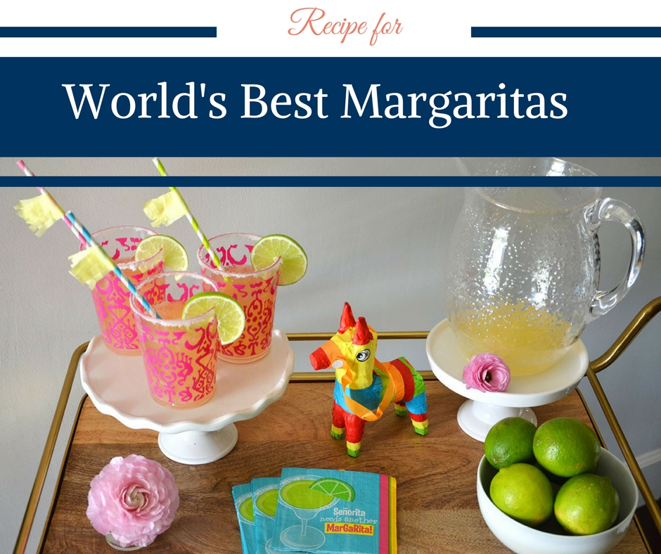 Recipe for World's Best Margaritas by Happy Family Blog