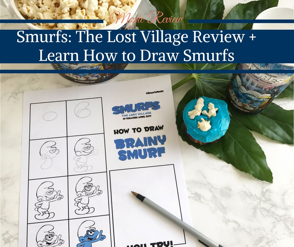 Smurfs The Lost Village Review + Learn How to Draw Smurfs