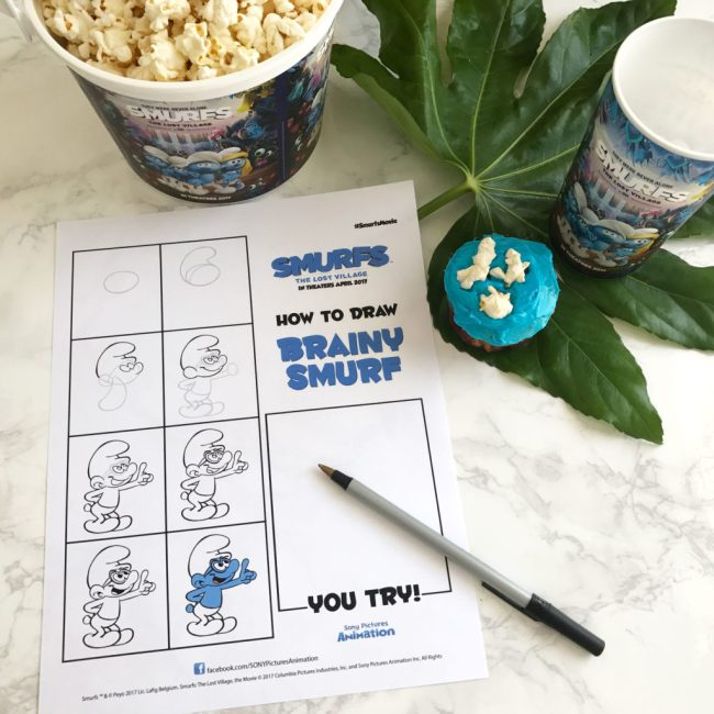 Smurfs The Lost Village Review + Learn How to Draw Smurfs by Happy Family Blog