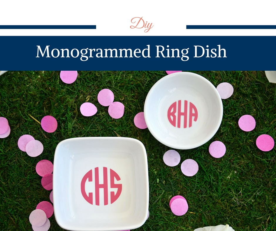 DIY Monogrammed Ring Dish