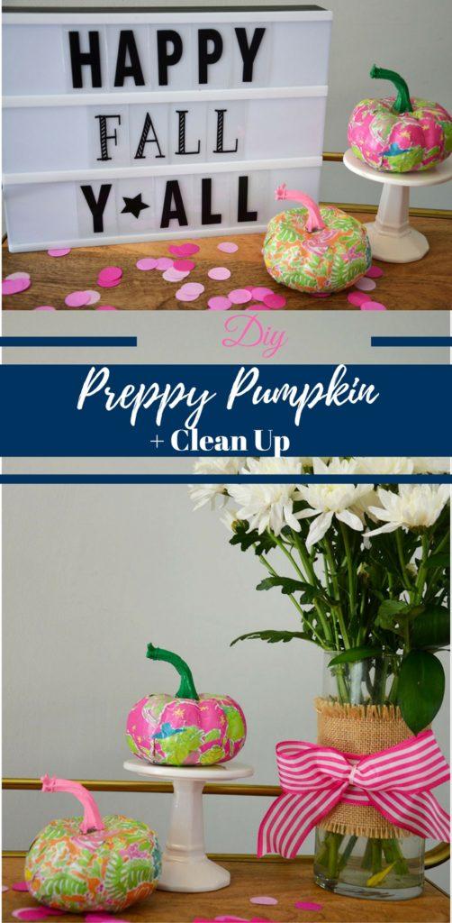 DIY Preppy Pumpkin + Clean Up by Happy Family Blog