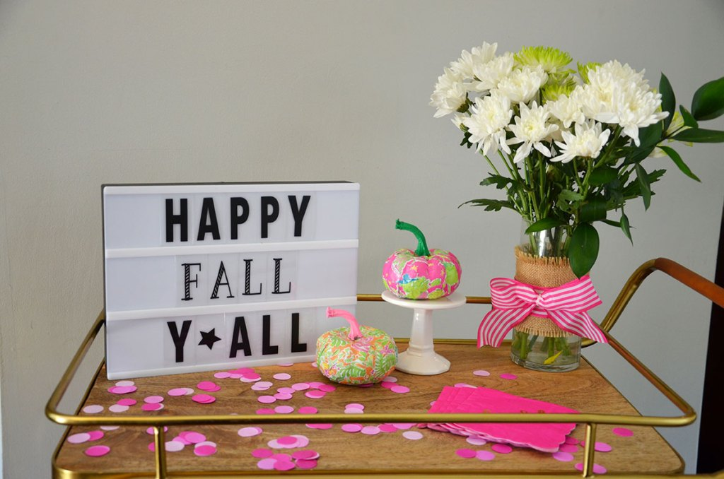 DIY Preppy Pumpkins, DIY Preppy Pumpkin, lilly pulitzer pumpkin