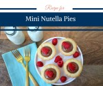 Recipe for Mini Nutella Pies by Happy Family Blog