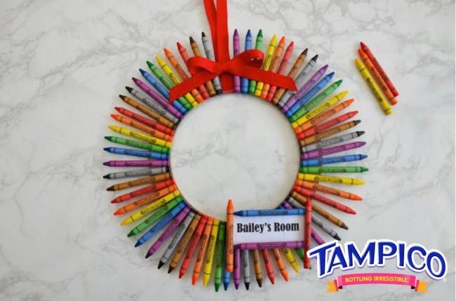 DIY Crayon Wreath by Happy Family Blog