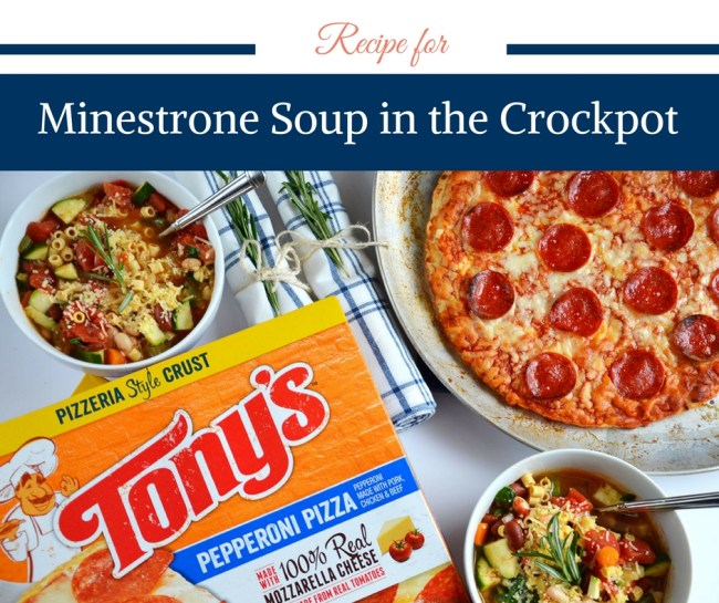 Recipe for Minestrone Soup in the Crockpot by Happy Family Blog