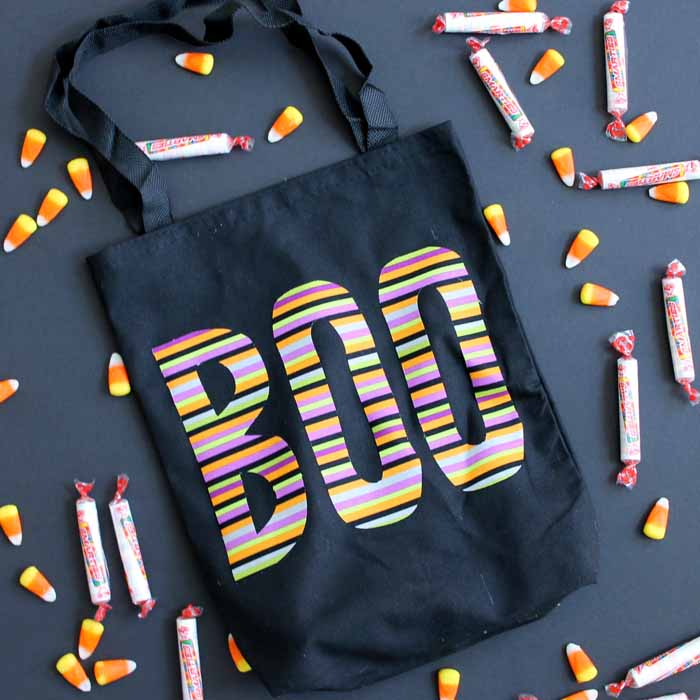 Boo, treat bag, treat bag, halloween bag, halloween treat bag