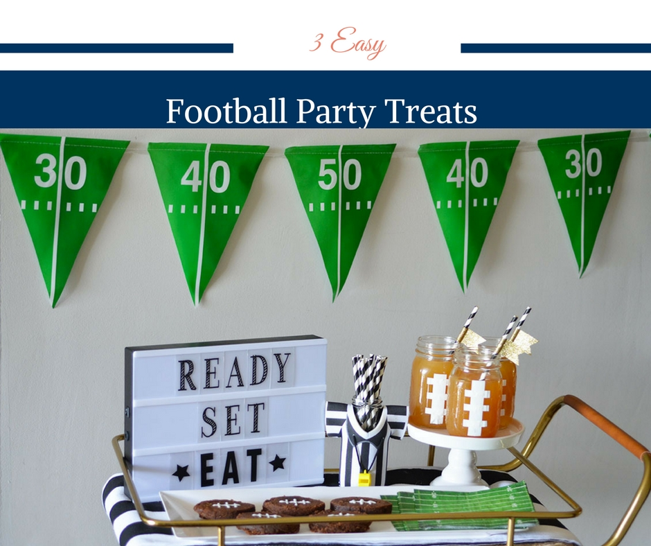 3 Easy Football Party Treats