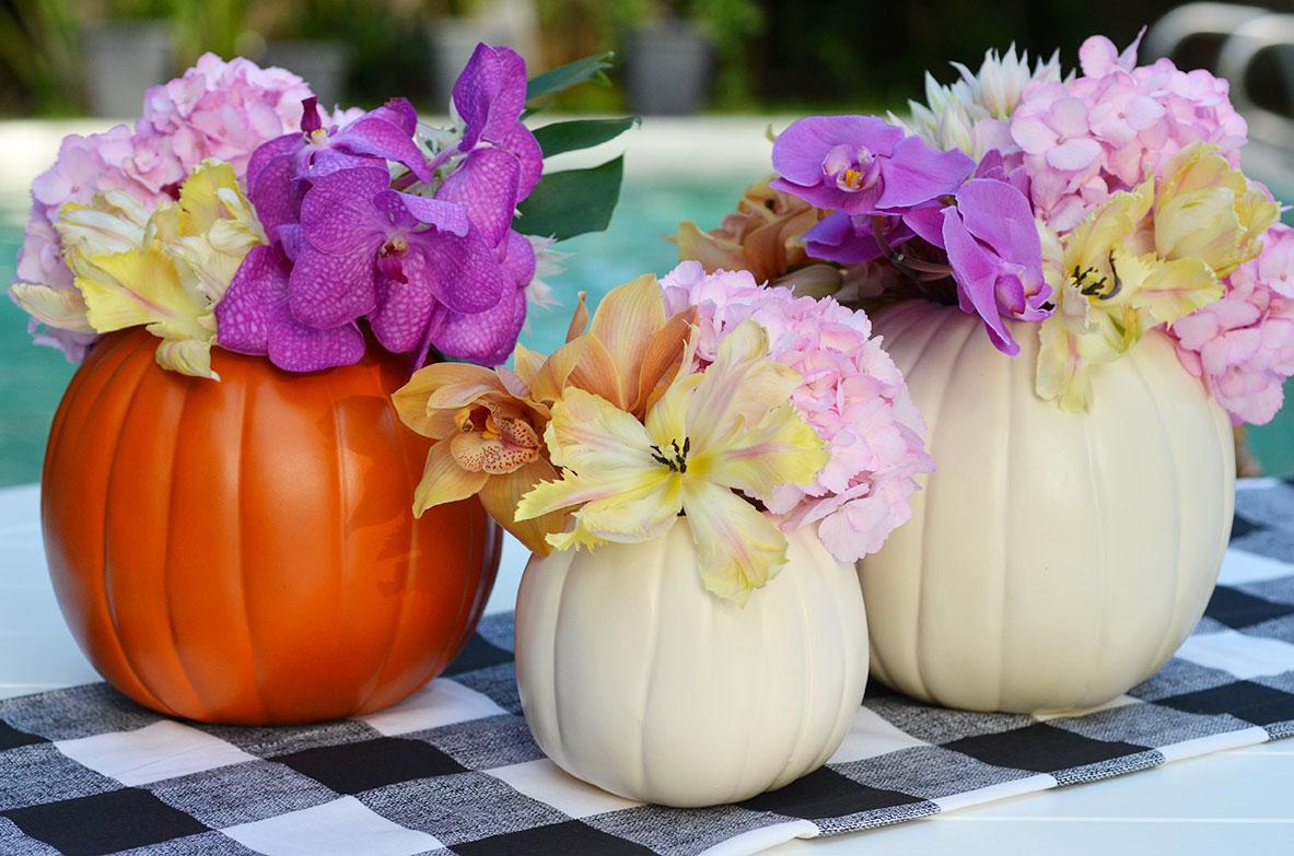 Diy Pumpkin Flower Arrangements Happy Family Blog