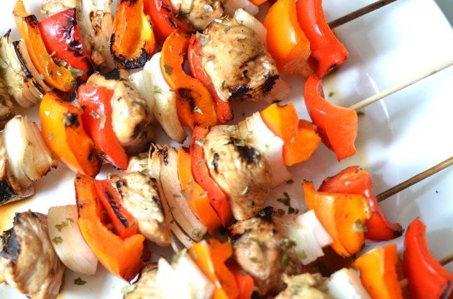 kebabs, chicken kebabs, Asian chicken