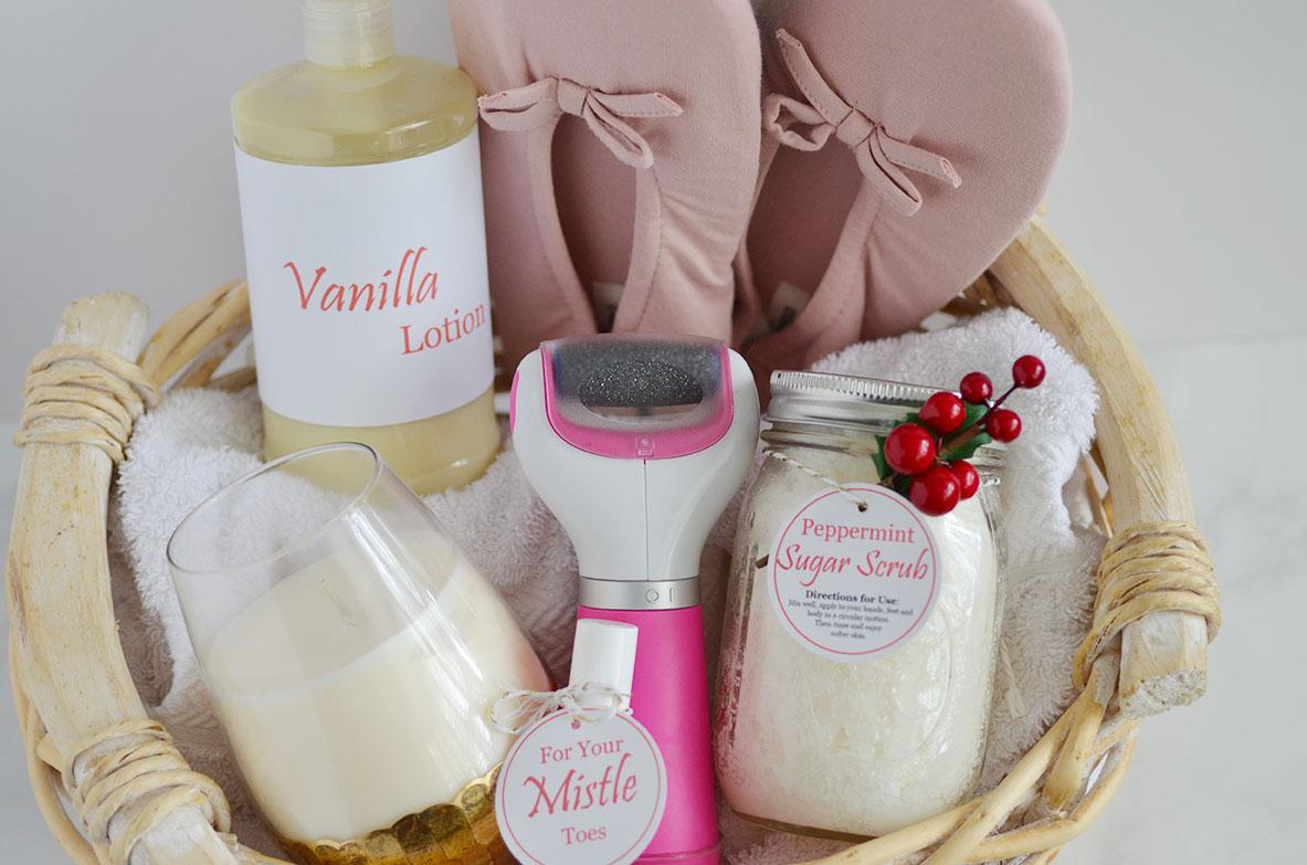 diy peppermint sugar scrub spa gift basket happy family blog