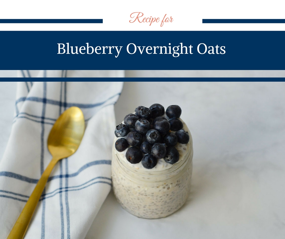 Recipe for Blueberry Overnight Oats