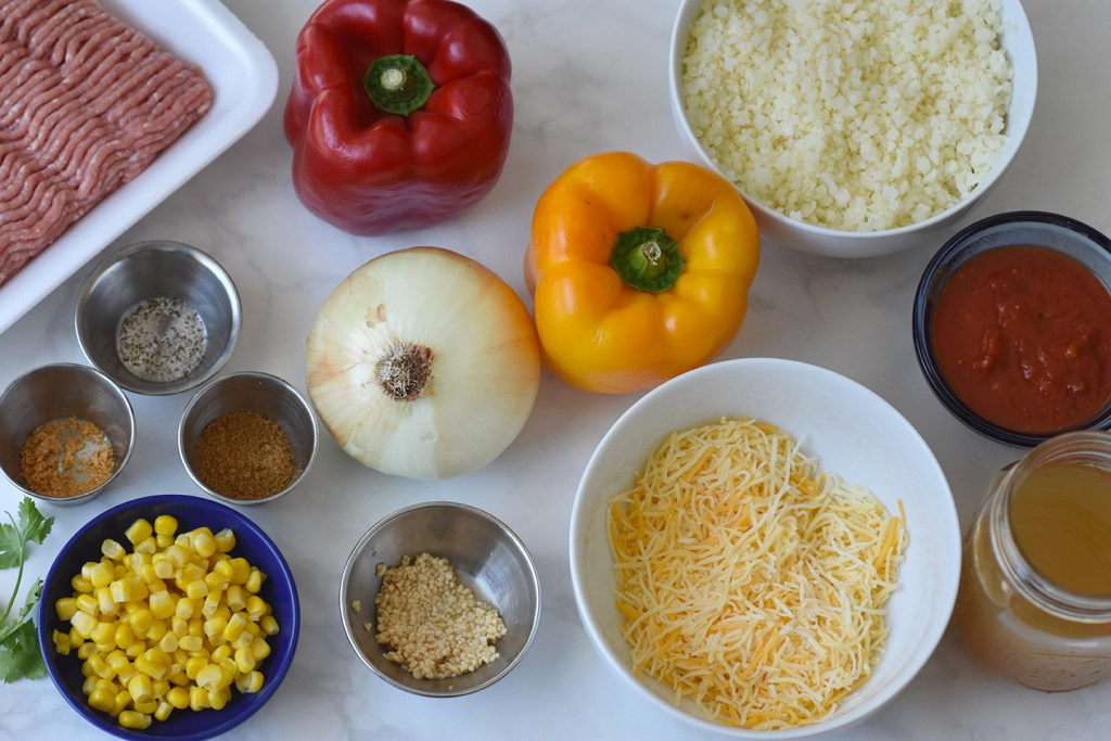 Ingredients for Stuffed Peppers, Turkey Stuffed Peppers, Stuffed bell peppers with ground turkey, ground turkey stuffed peppers recipe, stuffed peppers with ground turkey and rice, stuffed peppers recipe ground turkey, healthy stuffed peppers with ground turkey