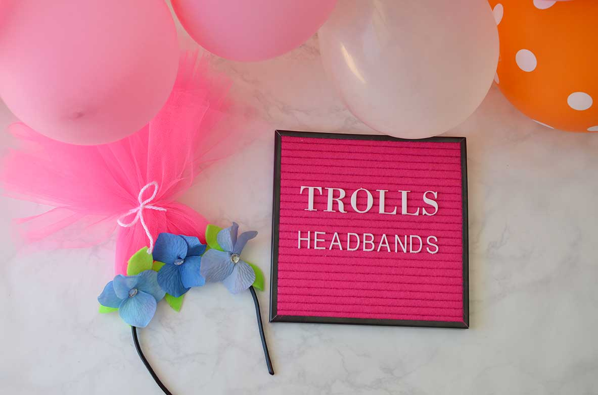 DIY Trolls Headband by Happy Family Blog