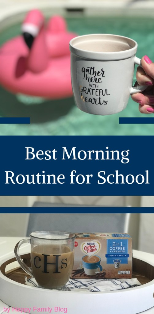 Best Morning Routine for School by Happy Family Blog