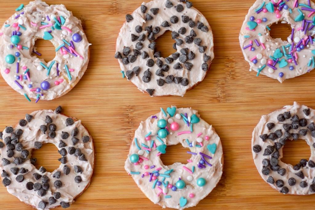 no bake donuts,no bake apple donuts,apple donuts,no bake treats for kids,no bake treats