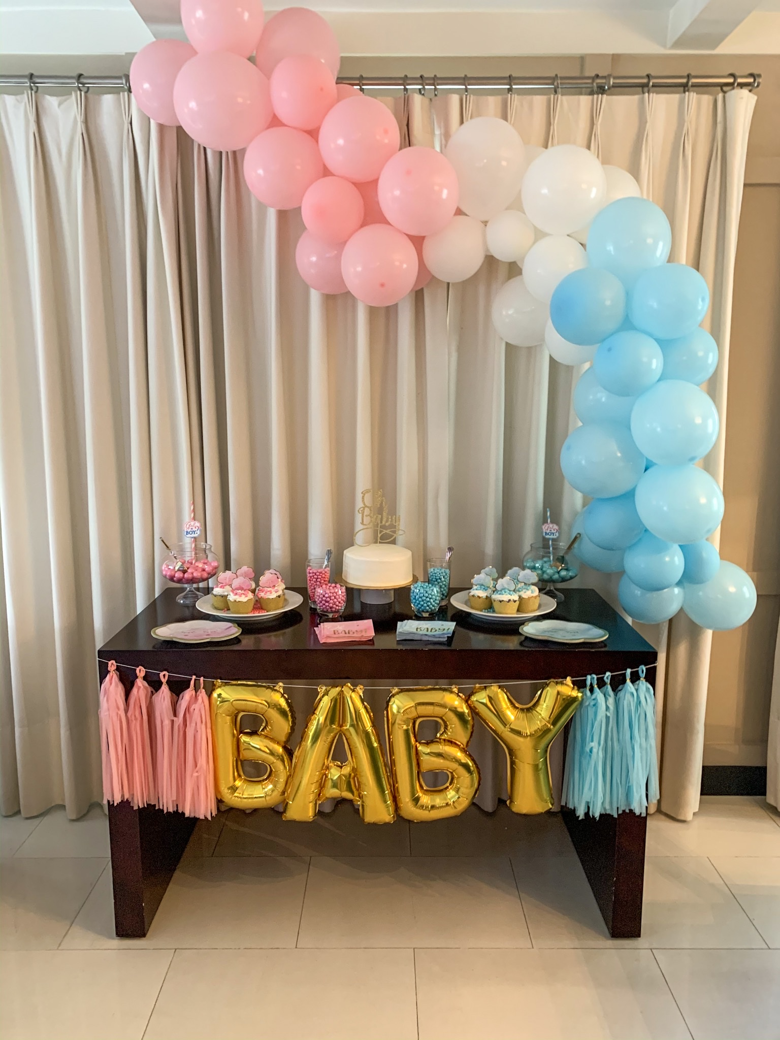 Gender Reveal Party Table Decorations  from i2.wp.com