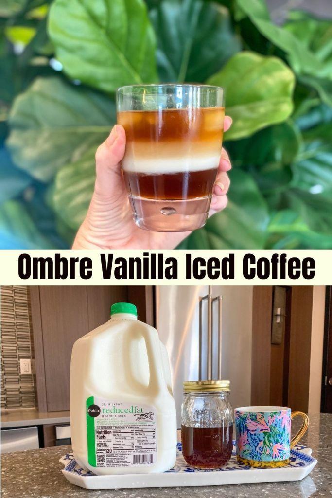 Ombre Vanilla Iced Coffee